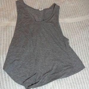 Tops - Open cut gray tank top